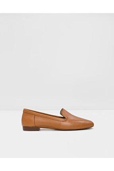 Kadın Taba Hakiki Deri Loafer Ayakkabı