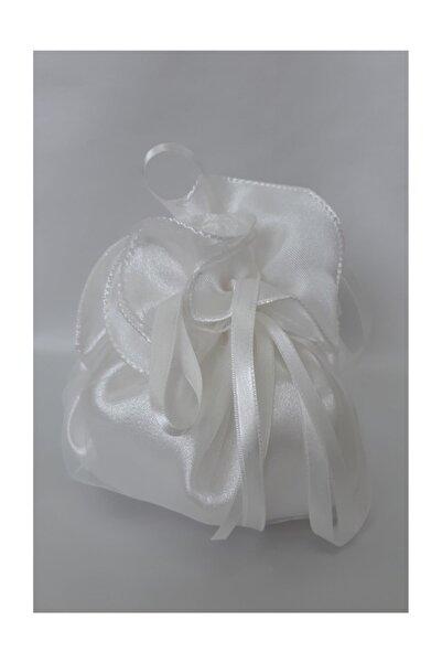 Suzanna Moda Kırık Beyaz Hayal Tül Kaplı Gelin  Altın Takı Kesesi Standart 15cm Boy 50cm Çapı Adana Gelinlik