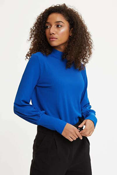 DeFacto Kadın Mavi Regular Fit Uzun Kollu Tişört R3731AZ20SP