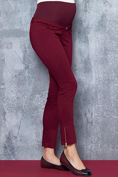 Ebru Maternity Ebru Hamile Pantolon Bordo