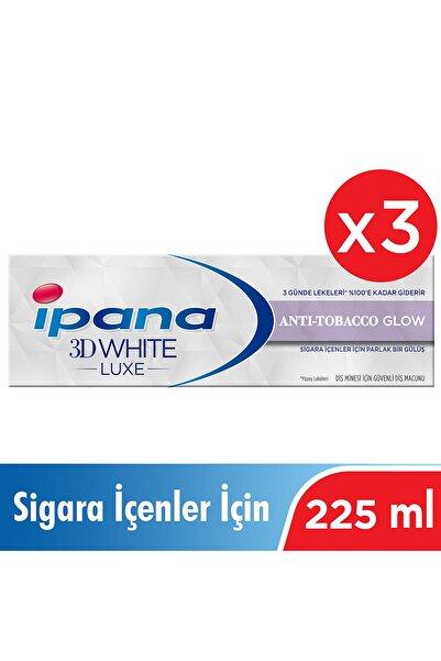 İpana 3 X 3 Boyutlu Beyazlık Luxe Diş Macunu Anti-tobacco Glow Sigara İçenler İçin 75 ml