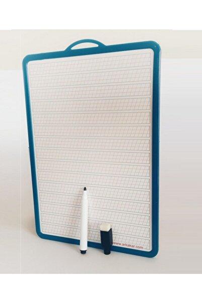 Ark Mavi Çift Taraflı Yazı Tahtası 28x18 cm Artı Silgili  Kalem