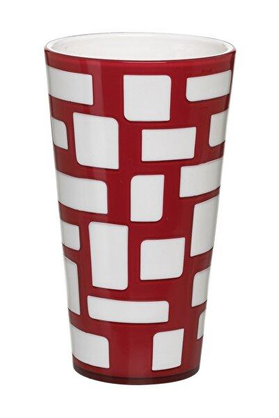 emsa Vazo Kırmızı Beyaz - Dörtgen Şekil