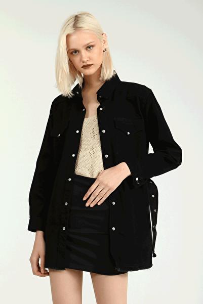 Collezione Siyah Kadın Sıyah Spor Regular Ceket