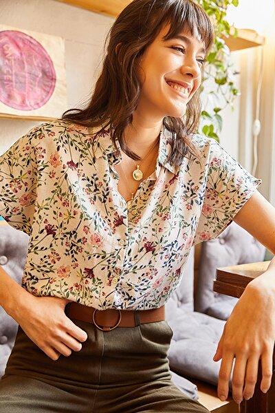 Olalook Kadın Taş Yarasa Gömlek GML-19000576