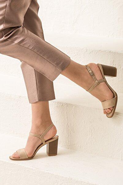Elle Shoes GUSTINEE Bej Kadın Sandalet