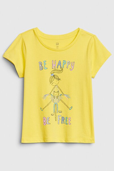 GAP Baby Kız Bebek Bea Kısa Kollu T-Shirt