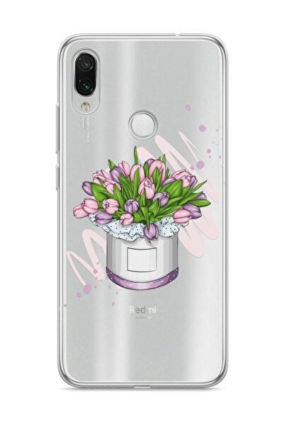 wowicase Xiaomi Redmi Note 7 Telefon Kılıfı Çiçek Kutusu Tasarımlı