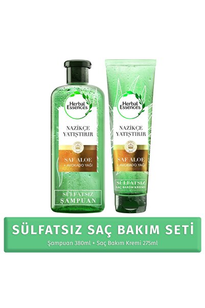Herbal Essences Sülfatsız Aloe ve Avokado SET ( 380ml+275ml)