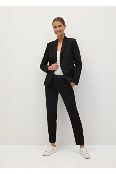 MANGO Woman Kadın Siyah Fit Kesim Takım Ceket