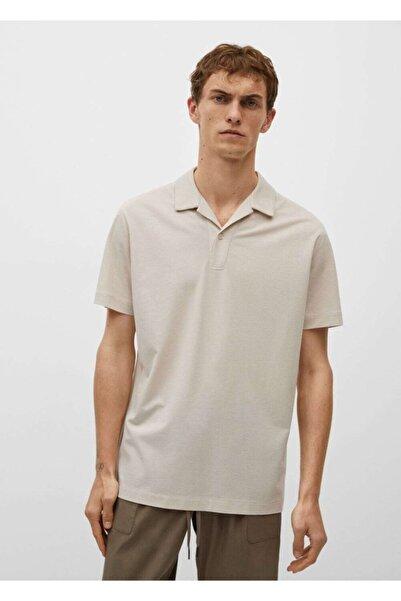 MANGO Man Erkek Bej Yaka Polo Gömlek