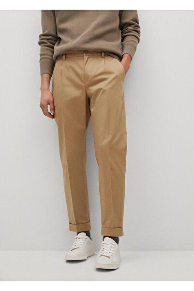 MANGO Man Pilili Kısa Paçalı Pantolon