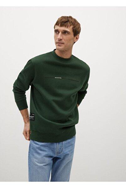 MANGO Man Yazılı Penye Sweatshirt