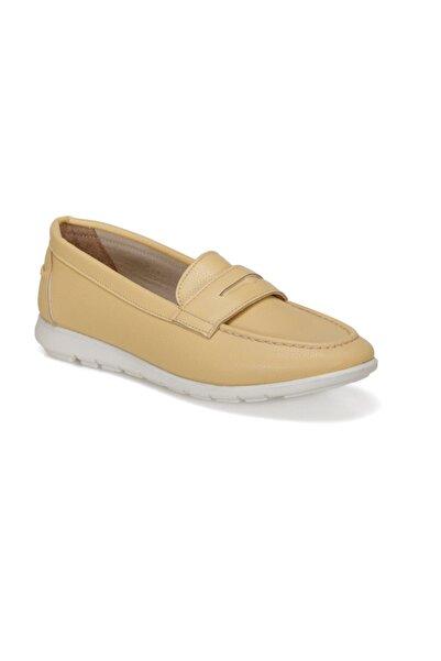 Polaris 91.313037.Z Sarı Kadın Loafer Ayakkabı 100376262