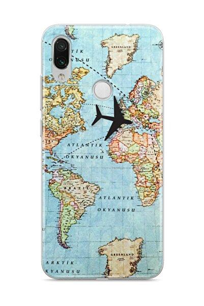 wowicase Xiaomi Redmi Note 7 Telefon Kılıfı Dünya Haritası Tasarımlı