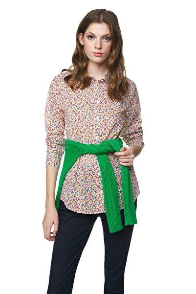 United Colors of Benetton Kadın Desenli Koton Gömlek 312015OA95Q8U4-66M