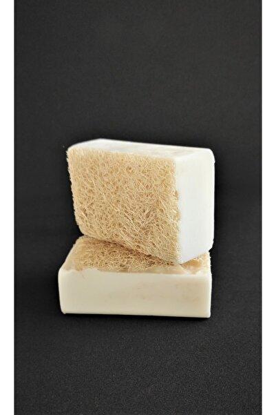 EQMQ STORE KOZMETİK Keçi Sütü Sabunu, Doğal Kabak Lifli Keçi Sütlü Sabun 120 Gr.