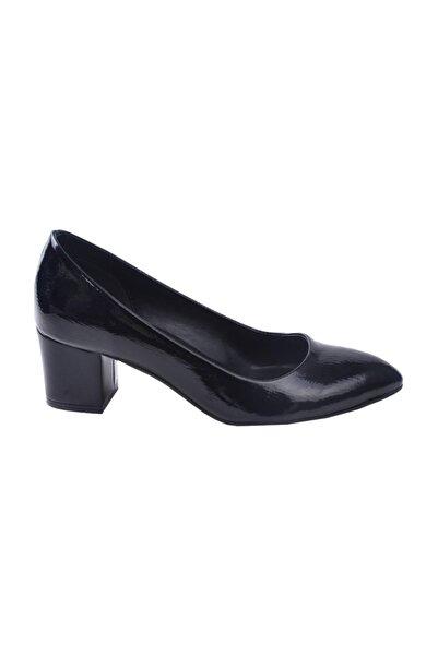 Ayakland 1990-2023 Kırık Rugan 5 cm Topuk Kadın Ayakkabı