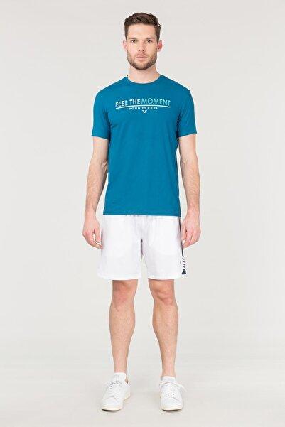 bilcee Mavi Erkek Antrenman T-Shirt FS-1675