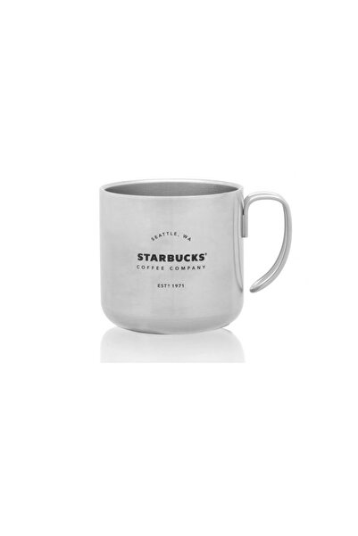 Starbucks Beyaz Metal Termos Bardak Kupa Yılbaşı Serisi