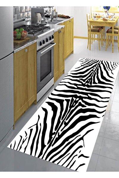 EVPANYA Zebra Desenli Koridor & Mutfak Halısı