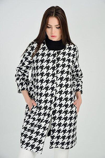 Sense Kadın Kazayağı Desenli Ceket Kbn13652