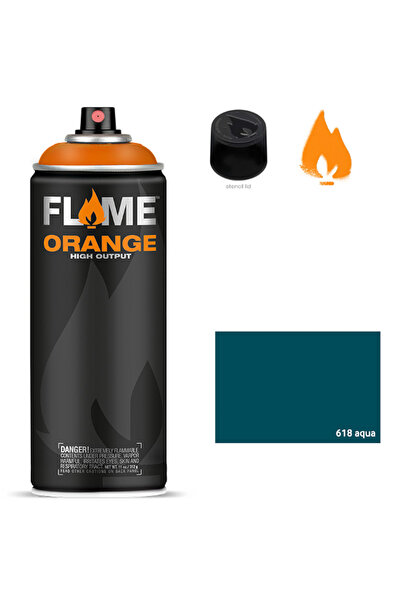 Flame Orange 400ml Sprey Boya N:618 Aqua 5699999