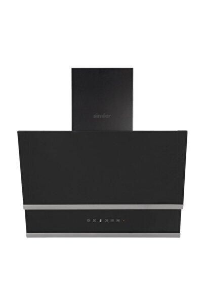 Simfer 8658 60 Cm Siyah Eğik Cam Davlumbaz-touch Kontrol