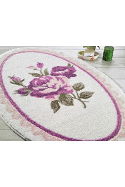 Confetti Rosa 80x130 Pembe Oymalı Banyo Halısı