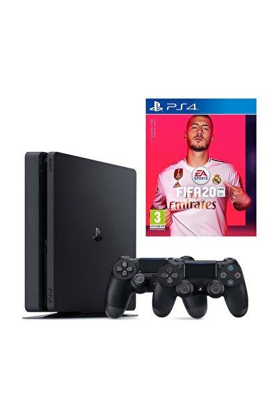 Sony Playstation 4 Slim 500 GB + 2. PS4 Kol + PS4 Fifa 20 (Eurasia Garantili)