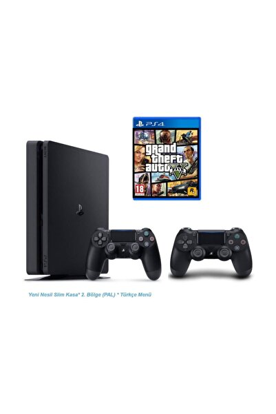 Sony PS4 Slim 1TB CUH-2016B+GTA 5+V2 NESIL PS4 KOL
