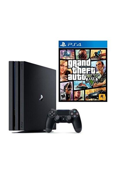 Sony Playstation 4 Pro 1 TB Oyun Konsol - Türkçe Menü (CUH-7218B) + Gta 5 Oyunu