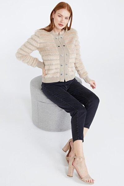 Sementa Kadın Triko Ceket - Bej