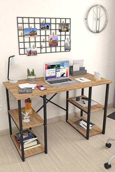 Bofigo 60x120 Cm 4 Raflı Çalışma Masası Bilgisayar Masası Ofis Ders Yemek Masası Çam