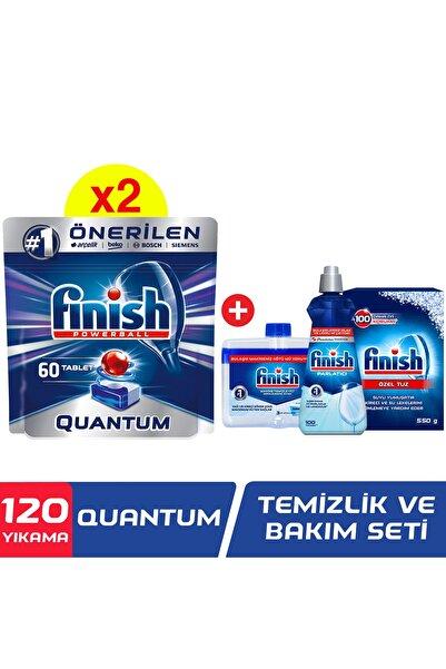 Finish Quantum 120 Tablet Bulaşık Makinesi Deterjanı (60x2) +temizlik Ve Bakım Seti