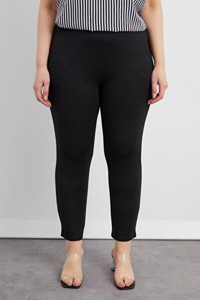 Curly Kadın Siyah Havuç Pantolon
