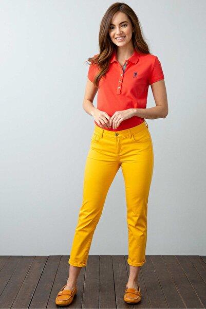 U.S. Polo Assn. Kirmizi Kadin T-Shirt