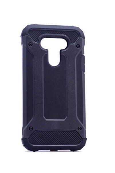 İncisoft Lg G5 Kılıf Çift Katmanlı Ultra Koruma Zırh Tasarım Kapak Siyah