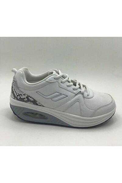 Lescon Kadın Beyaz Zayıflama ve Yürüyüş Ayakkabısı
