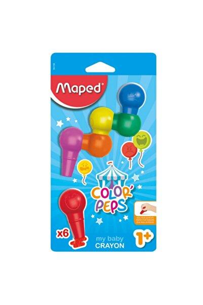 Maped Color Peps 6 Renk Bebek Keçeli Kalem Boyası Crayon 3154148631064