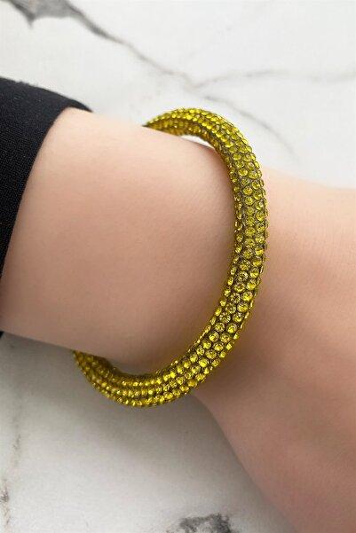 TAKIŞTIR Kadın Sarı Taşlı Bileklik