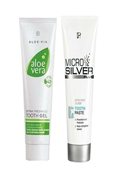 LR Microsilver Plus Diş Macunu 75 ml + Aloe Vera Gel Diş Macunu 100 ml