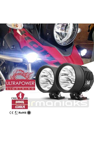 C9 Cree Led Ultra Power Lightning Usa Evrensel Sis Farı 4 Led Su Geçirmez Off Road Oto Motor Led Far