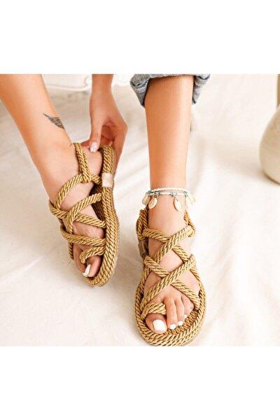 Huella Kadın Altın Sandalet