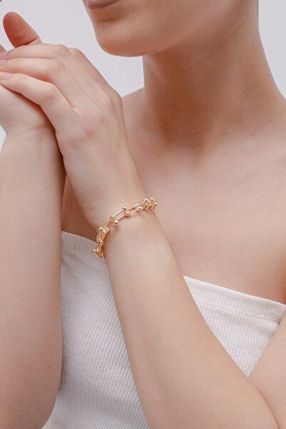 Lafaba Kadın Sarı Tiffany Bileklik