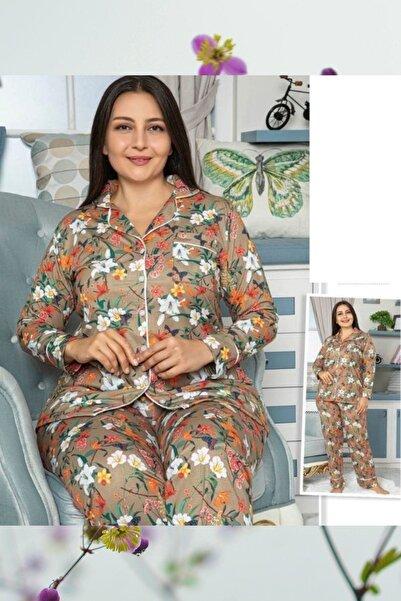 MASSİMO BAZAAR Düğmeli Battal Pijama Takım