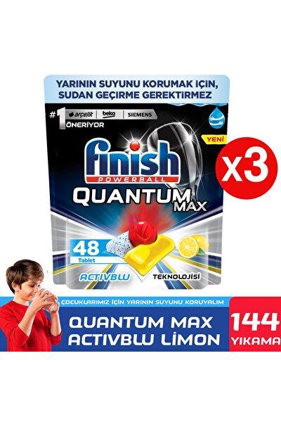 Finish Quantum Max 144 Kapsül Bulaşık Makinesi Deterjanı Limon (48x3)