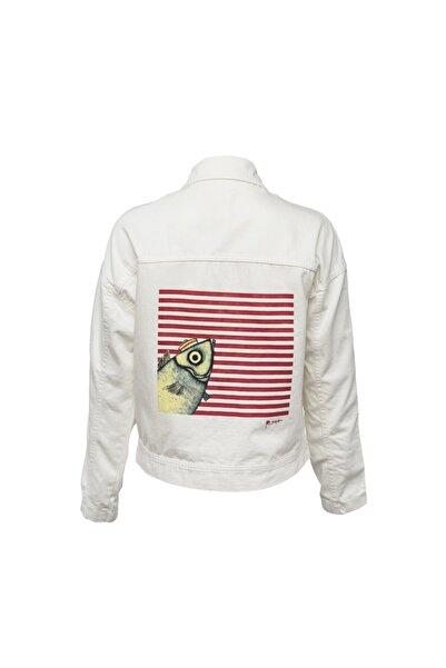 Biggdesign Kadın  Beyaz Pistachio Kot Ceket