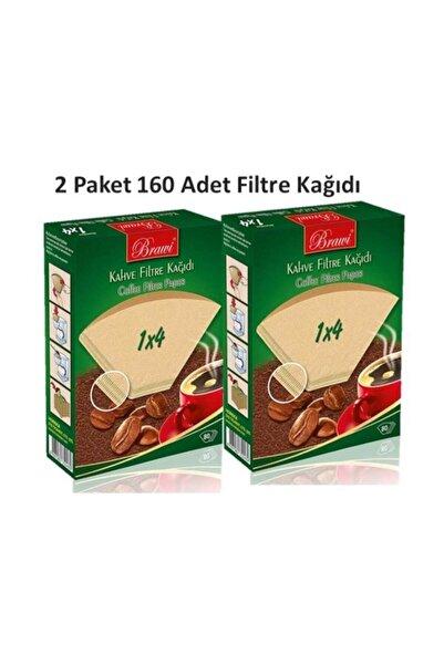 Caffeo 1x4 / 80'li  2 Paket 160 Adet