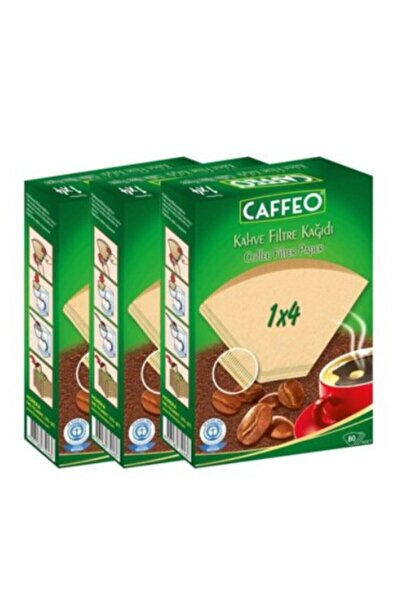 Caffeo Kahve Filtre Kağıdı 1x4 80 Adet 3 Lü Set (240 Adet)